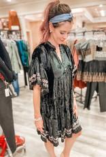 UNCLE FRANK Jenna Tiered Velvet Dress