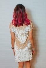 UNCLE FRANK Shimmering Velvet Star Dress