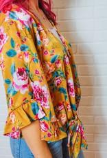 IVY JANE Goldie's Satin Floral Top