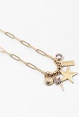 BLUE SKY Gold Link Brave Charm Necklace