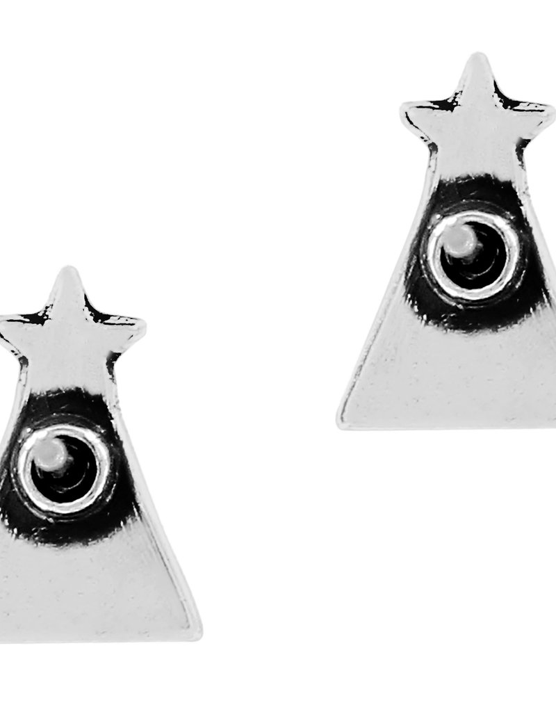 Frosted Christmas Tree Mini Post Earrings