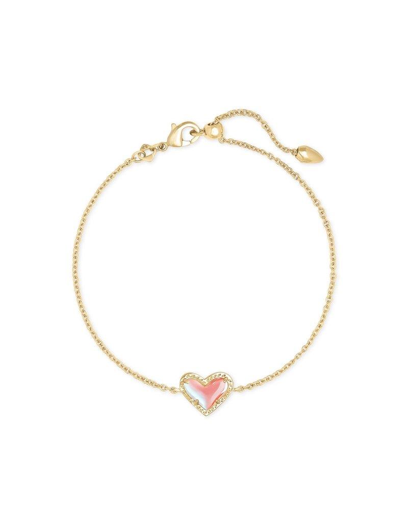 KENDRA SCOTT Ari Heart Gold Chain Bracelet