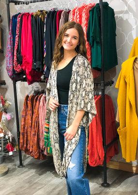 KLD SIGNATURE Jill Snakeprint Kimono