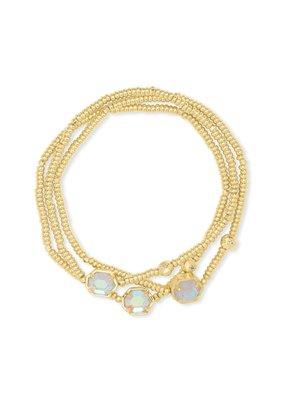 KENDRA SCOTT Tomon Gold Stretch Bracelet