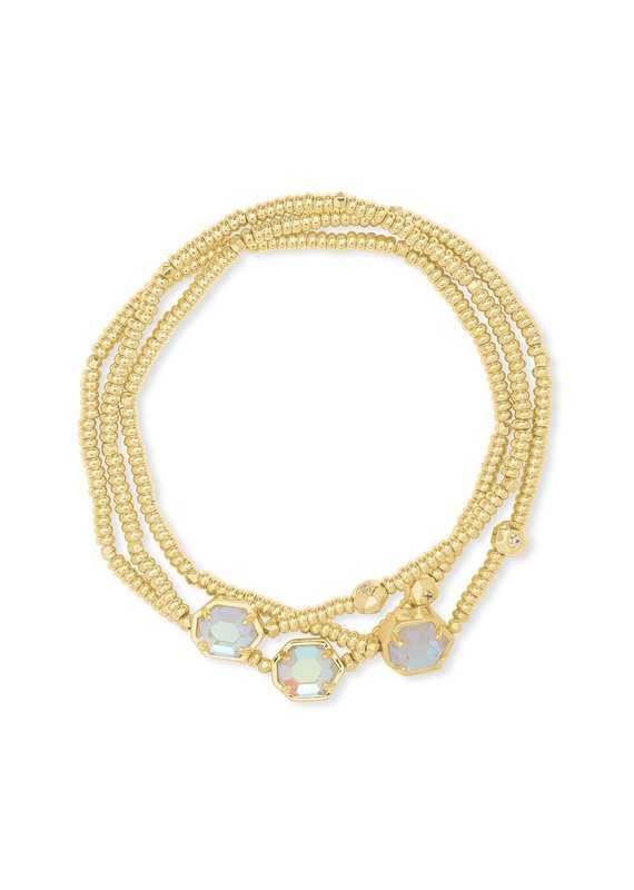 KENDRA SCOTT Tomon Gold Stretch Bracelet