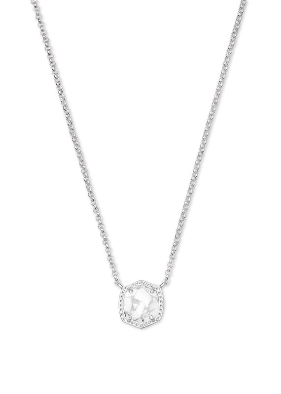KENDRA SCOTT Davie Silver Short Pendant Necklace