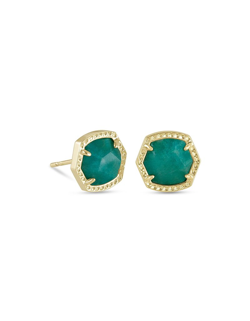 KENDRA SCOTT Davie Gold Stud Earrings