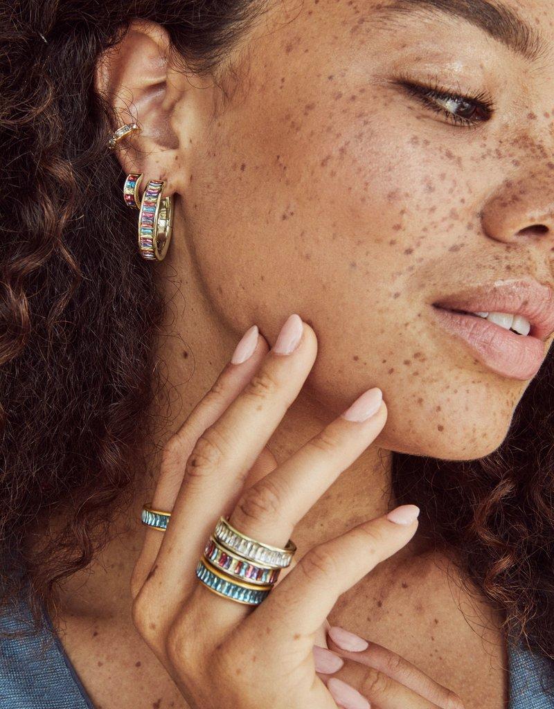 KENDRA SCOTT Jack Gold Huggie Earrings