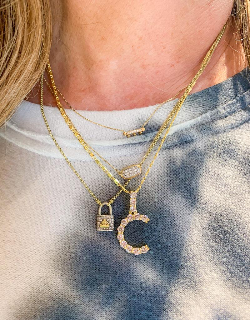 GEMELLI Ariel Initial Necklace