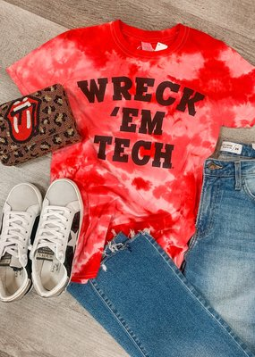 KICKOFF COUTURE Wreck 'Em Tech Tie Dye Tee