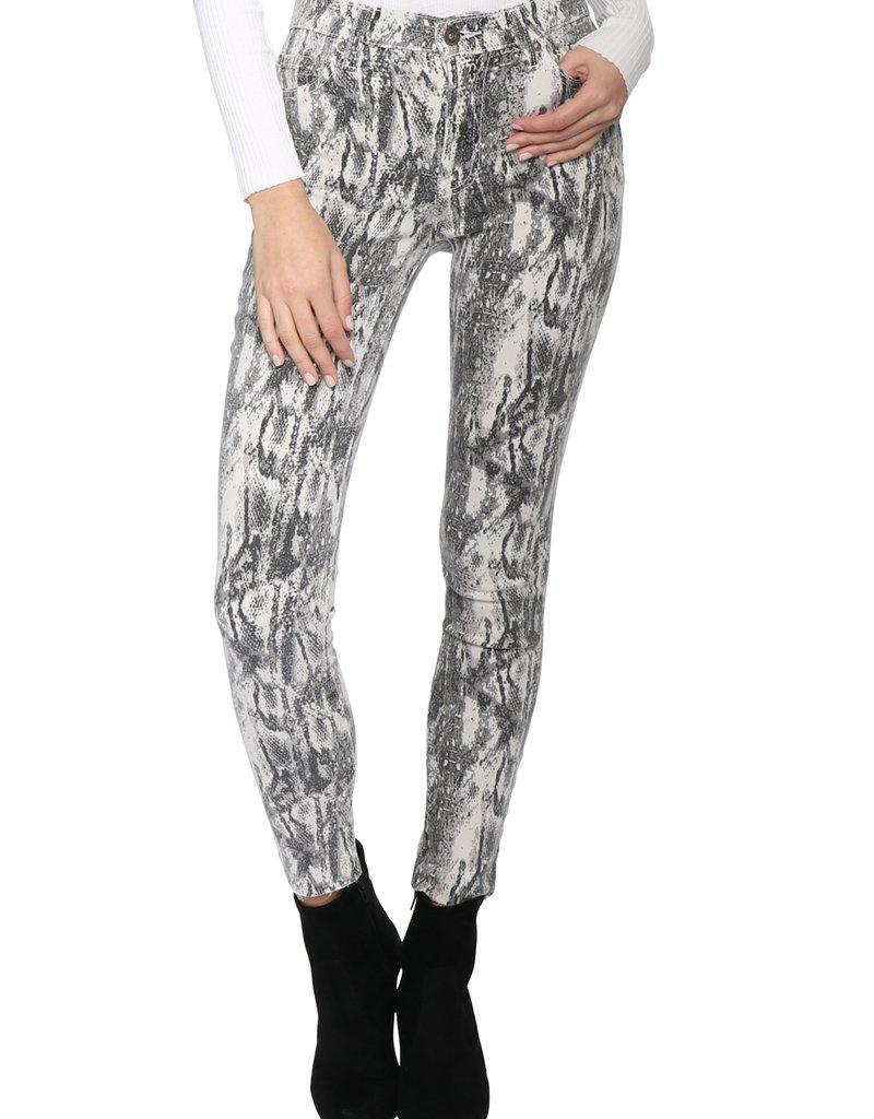 PISTOLA Aline Snake Skinny Jeans