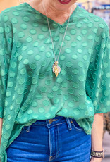 JADE MELODY Jade Circle Embellished Top