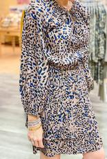 JOY JOY Tana Double Tiered Pleated Dress