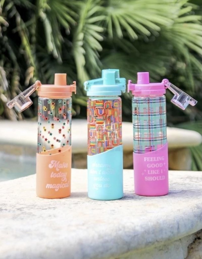 3HAPPYHOOLIGANS Make Today Magical Glass Water Bottle