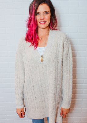 RDINTERNATIONAL Meg Soft Cable Knit Sweater