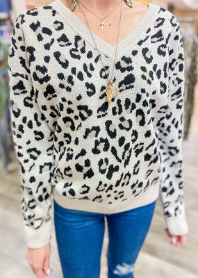 KAREN KANE Night Lights Cheetah Sweater