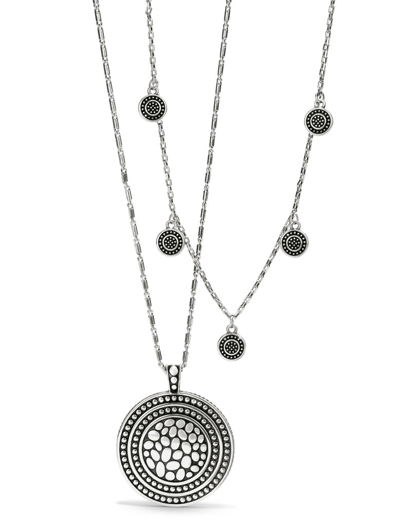 Pebble Round Droplet Necklace