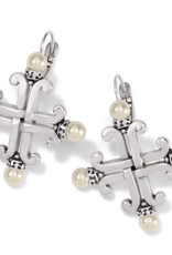 Taos Pearl Cross Leverback Earring