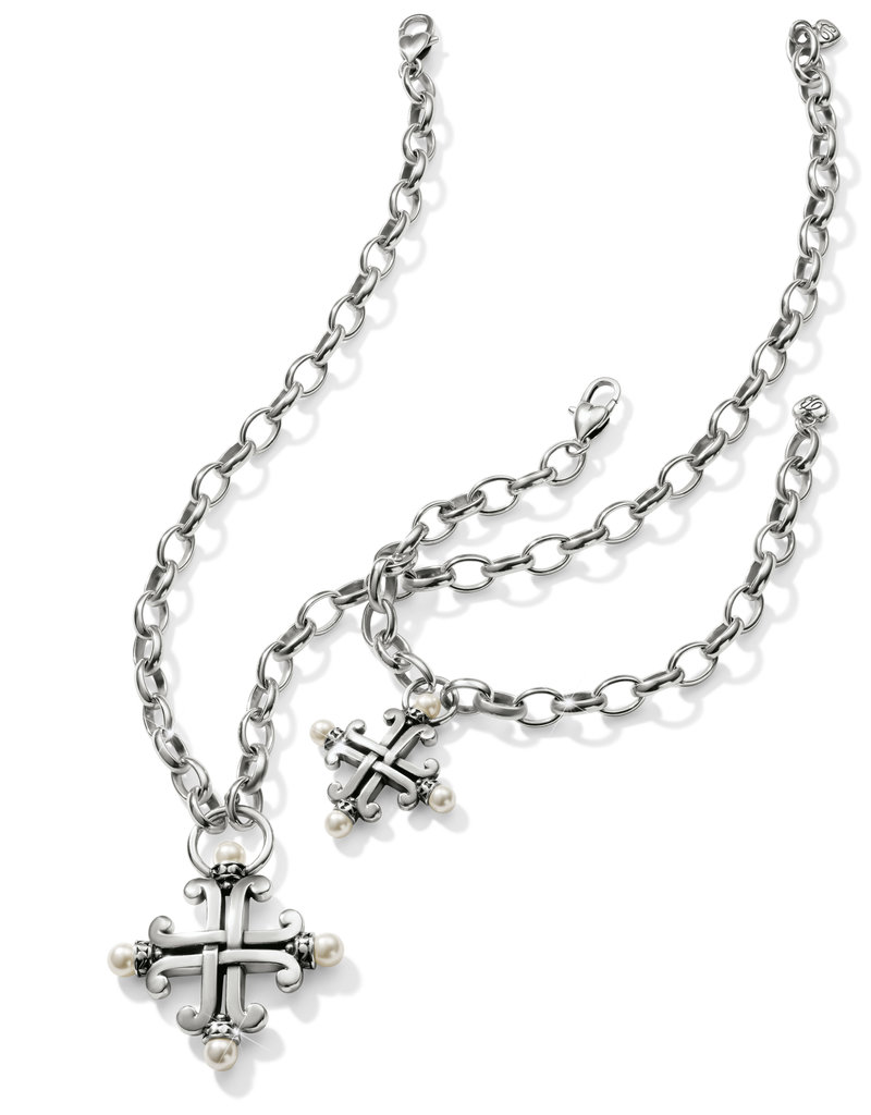 Taos Pearl Cross Necklace