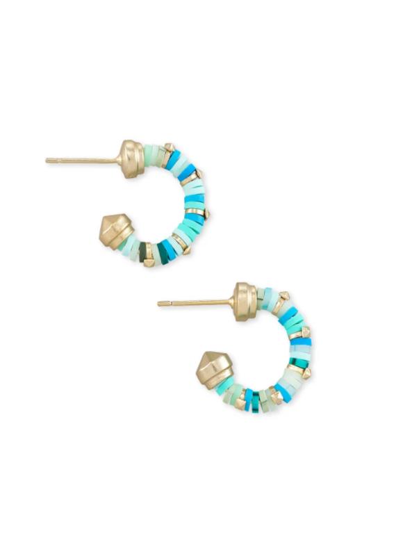 KENDRA SCOTT Reece Gold Huggie Earrings