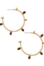 KENDRA SCOTT Freida Vintage Gold Hoop Earrings