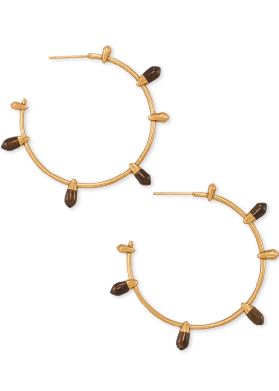 KENDRA SCOTT Freida Vintage Gold Hoop Earrings