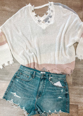 POL You're My Stripe Sweater