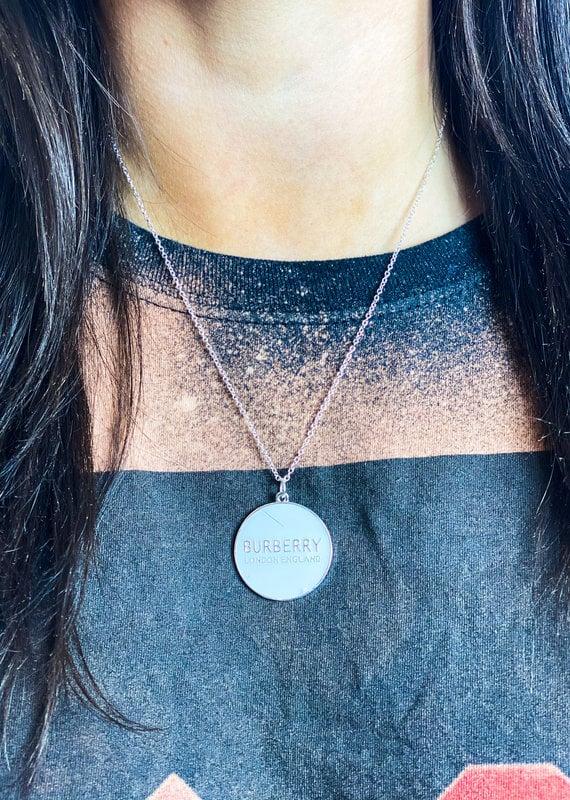 JHOFFMAN Burberry Designer Charm Necklace