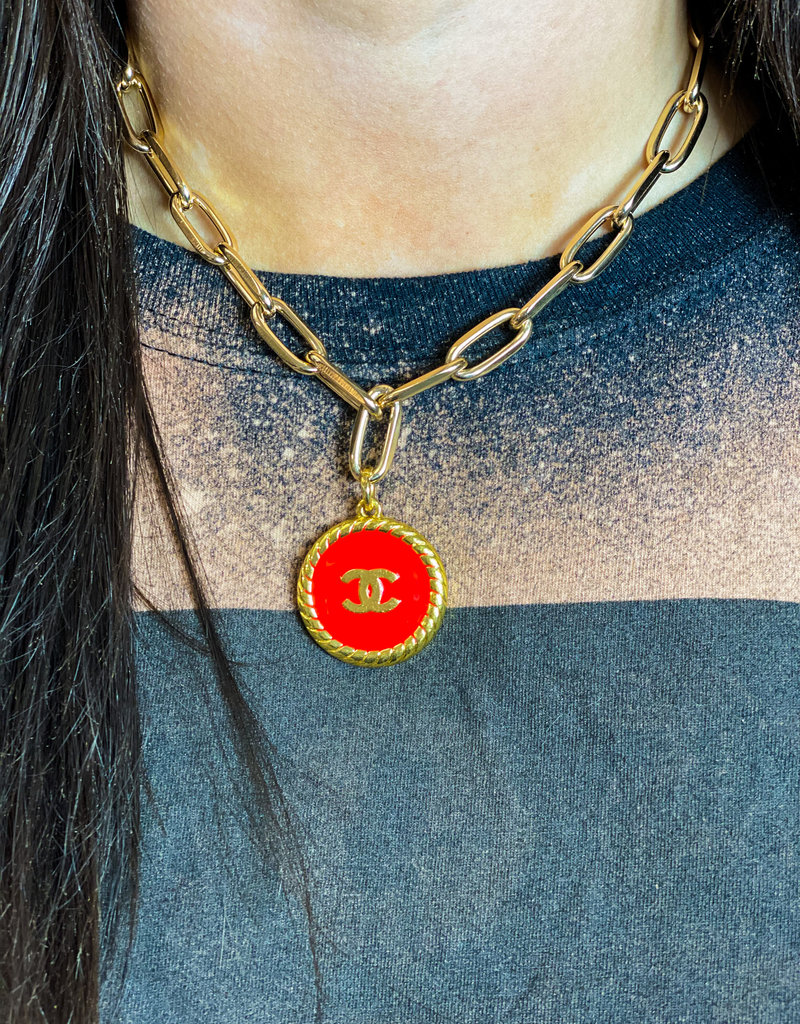JHOFFMAN Chanel Gold Designer Charm Necklaces