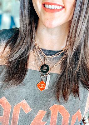 JHOFFMAN Chanel Gold Designer Charm Necklaces
