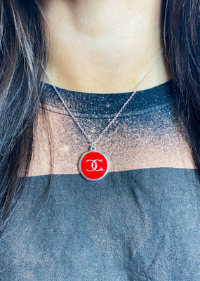 JHOFFMAN Chanel Silver Charm Designer Necklaces