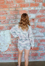 KARLIE Camo Sweater/Short Set