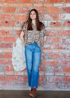 KARLIE Leopard Luxe Top