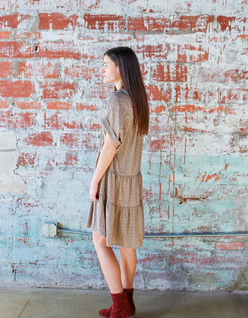 IVY JANE Spotted You Leopard Dress