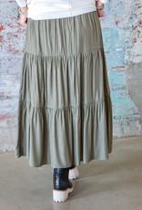 JOY JOY Bella Tiered Midi Skirt