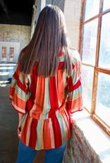 IVY JANE Fiesta Striped Tiered Top