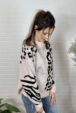 J. Hoffman Blushing Animal Print Sweater