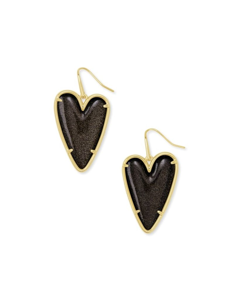 KENDRA SCOTT Ansley Heart Gold Drop Earrings