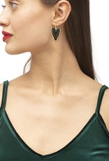 KENDRA SCOTT Ansley Heart Silver Drop Earrings