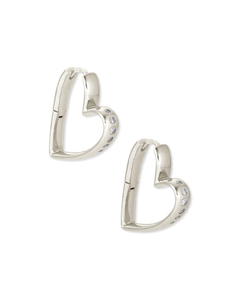 KENDRA SCOTT Ansley Heart Small Hoop Earrings