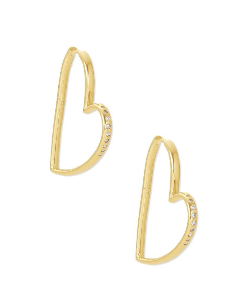 KENDRA SCOTT Ansley Heart Hoop Earrings
