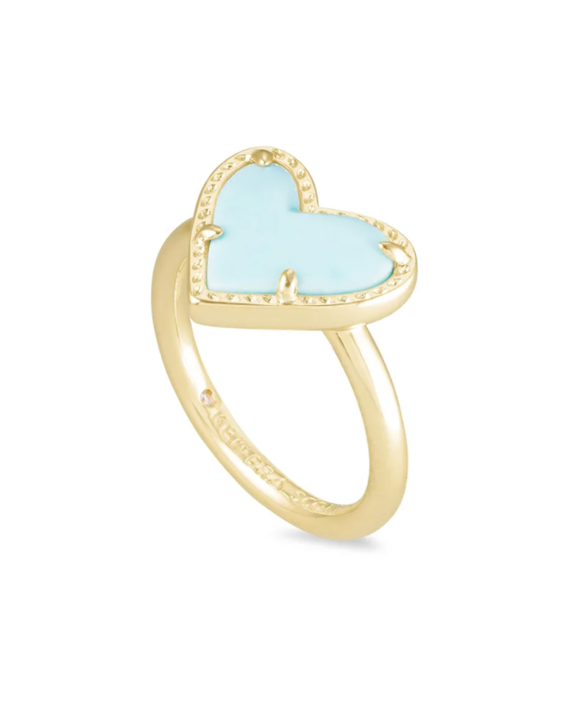 KENDRA SCOTT Ari Heart Gold Band Ring