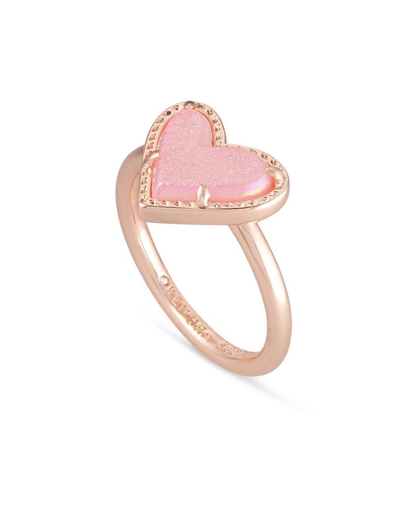 KENDRA SCOTT Ari Heart Rose Gold Band Ring