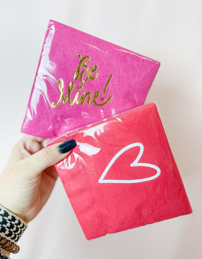 Natalie Chang Be Mine Valentine's Day Napkins
