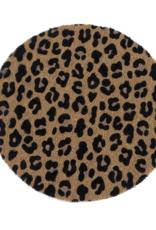 SHIRALEAH Leopard Door Mat