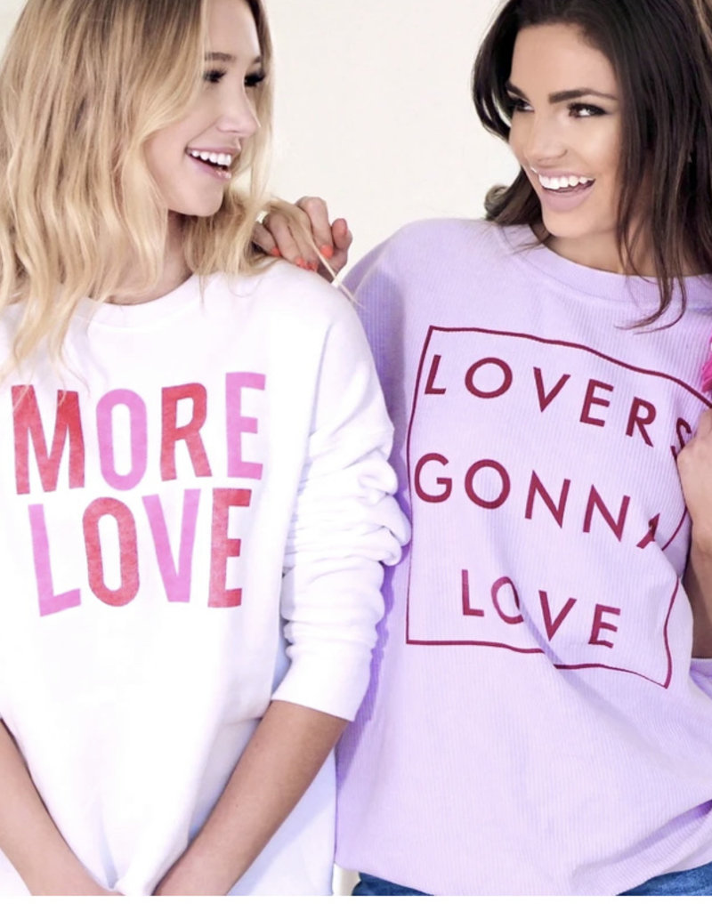 THE LIGHT BLONDE Lovers Gonna Love Corded Pullover
