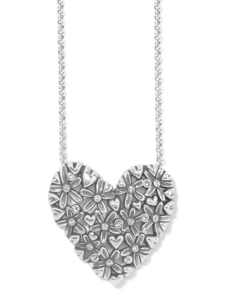 Wild Flowers Heart Necklace