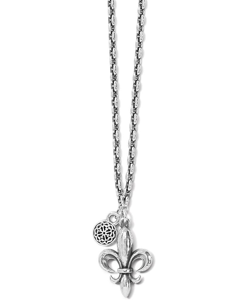Ferrara Fleur De Lis Petite Necklace