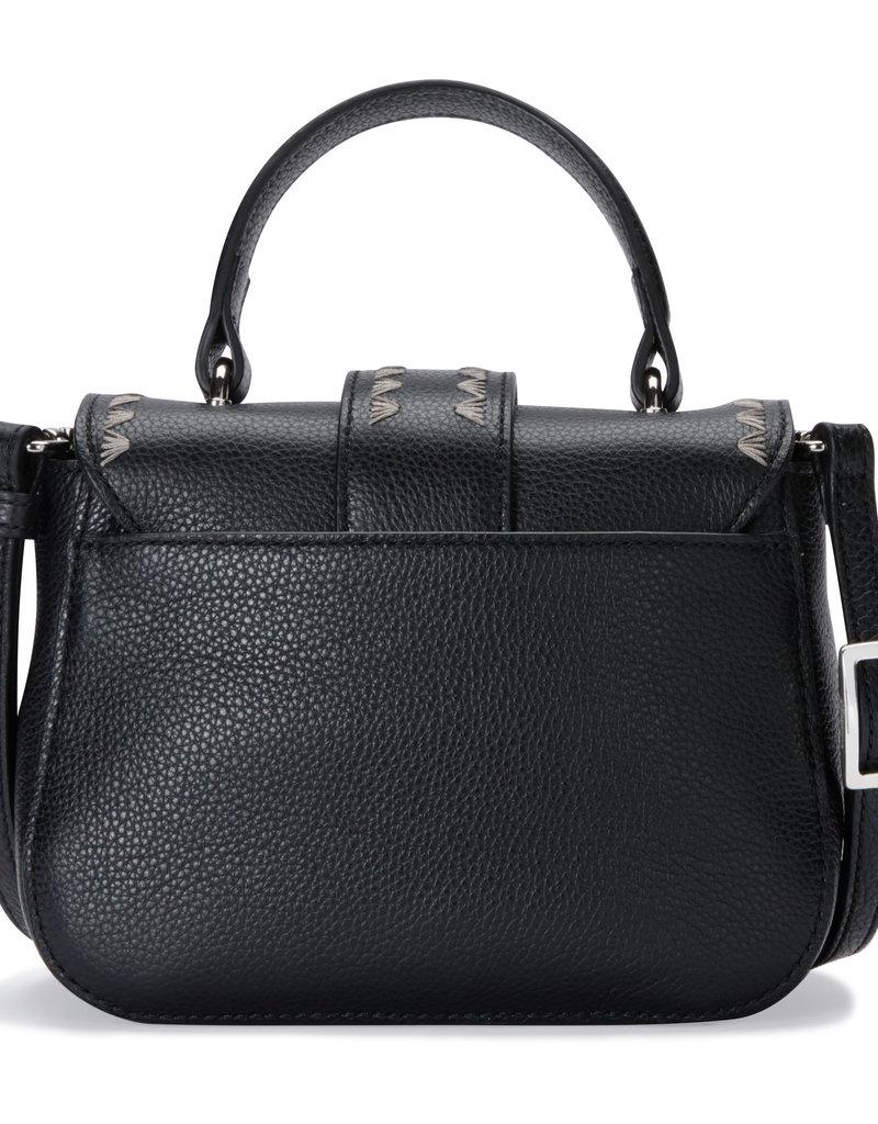 Ella Mini Flap Bag in Black
