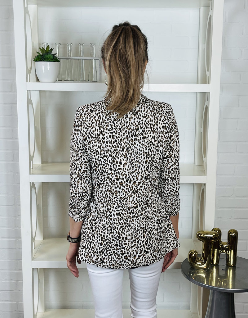 KLD SIGNATURE Liv Leopard Print Blazer